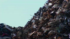 A tall pile of waste. Stock Footage