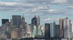 Clouds move over New York, New York. Stock Footage