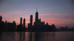 Long-shot of Chicago skyline Stock Footage