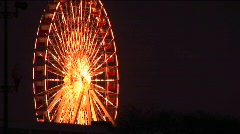 Eye-catching lighting on a ferris wheel Stock Footage