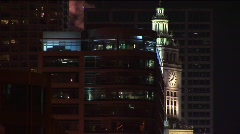 The clock tower of the famed Wrigley Building in Chicago - stock footage