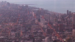 An aerial look at Chicago's urban  sprawl Stock Footage