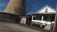 A home near a nuclear power plant Stock Footage
