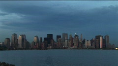 The New York skyline surrounded by hues of blue - stock footage