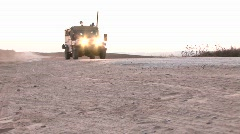 An Israeli army patrol moves along a border region. Stock Footage