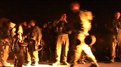 Israeli soldiers gather and smoke cigarettes. Stock Footage