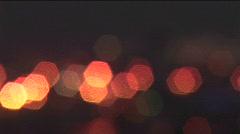 Haifa, Israel is illuminated by city lights. Stock Footage