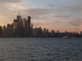 Stock Video Footage of Waterfront perspective of the Toronto skyline