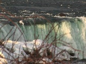 Stock Video Footage of The Niagara River washes over Horseshoe Falls