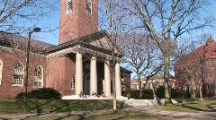 Picturesque church on Harvard University's campus Stock Footage