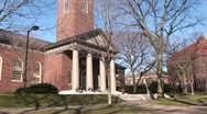 Stock Video Footage of Picturesque church on Harvard University's campus