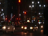 Stock Video Footage of Downtown New York traffic at night