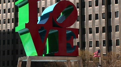 Robert Indiana's Love sculpture Stock Footage