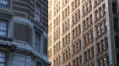 Zoom-in on the windows of a high-rise building Stock Footage