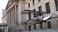 Stock Video Footage of Exhibit outside Philadelphia's world-renowned Museum of Art
