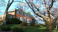 A colonial-style home with red brick facade Stock Footage