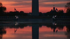 Washington Monument and the Reflecting Pool Stock Footage