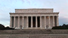 A medium shot of Lincoln Monument in Washington, D C Stock Footage