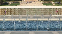 Fountains and the Lincoln Monument in Washington, DC Stock Footage