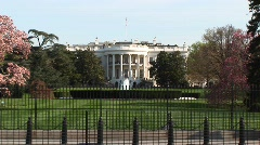Long-shot of the White House in spring Stock Footage
