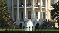 Exterior of the White House in Washington DC Stock Footage