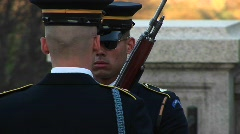 The tomb of the unknown soldier Stock Footage