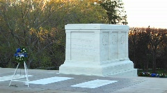The tomb of the unknown soldier in Washington DC Stock Footage