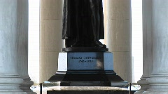 A statue of Thomas Jefferson inside the Jefferson Memorial Building Stock Footage