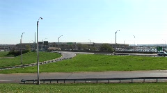A view of the freeway near the Pentagon Stock Footage