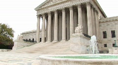 US Supreme Court building in Washington, DC Stock Footage
