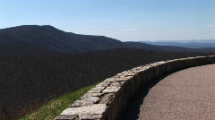 Road in the Blue Ridge Mountains of Virginia Stock Footage