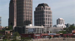 Pan-up to one of Atlanta's tallest buildings Stock Footage