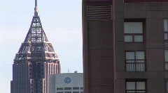 A medium-shot of a small section of the skyline in Atlanta, Georgia Stock Footage