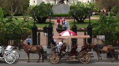 Jackson Square in the New Orleans French Quarter Stock Footage