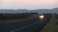 Stock Video Footage of Medium shot of four motorcycles on a rural Texas roadway