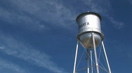 Stock Video Footage of Medium shot of the Marfa water tower