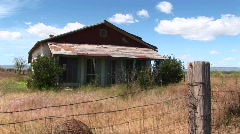Medium-shot of an old Texas ranch house Stock Footage