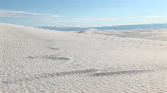 Long-shot of sand dunes at White Sands National Monument Stock Footage