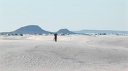 Photographer at White Sands National Monument in New Mexico Stock Footage