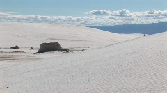 Sand dunes at White Sands National Monument in New Mexico Stock Footage