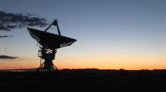 Satellite dish at the National Radio Astronomy Observatory New Mexico - stock footage