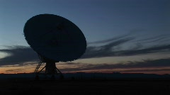 Satellite dish at the National Radio Astronomy Observatory New Mexico Stock Footage
