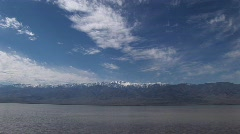 Badwater Lake in Death Valley National Park Stock Footage