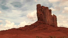 Sandstone formation at Monument Valley Tribal Park Stock Footage