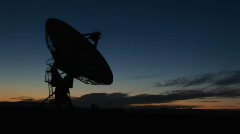 Medium shot of the National Radio Astronomy Observatory in New Mexico Stock Footage