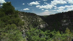 Long shot of Walnut Canyon National Monument in Arizona Stock Footage
