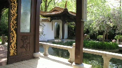 Chinese garden architecture Stock Footage