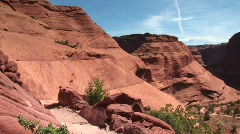 Long shot of Canyon De Chelly in Arizona - stock footage
