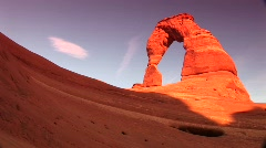 Medium shot of Delicate Arch in Arches National Park, Utah Stock Footage