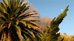 Billowing cloud of smoke from a wildfire in southern California Stock Footage
